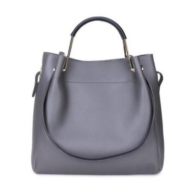 Tas Nienke grijs grijze taupe grey tassen binnen tas zwart hengsels dames fashion itbags Bag in Bag handtassen schoudertassen online