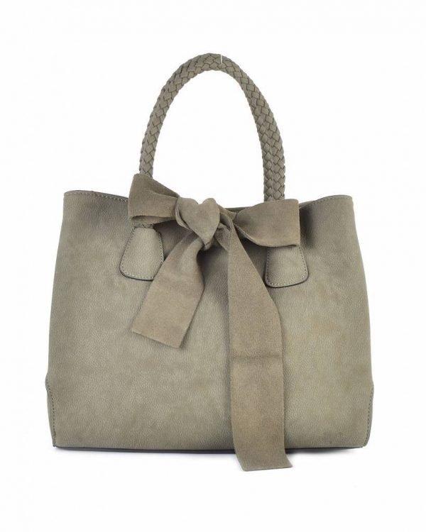 Tas-Suede-strik groen groene-dames-handtas-met-grote-strik-fashion-tassen-goedkope-giuliano-tassen suedine itbags