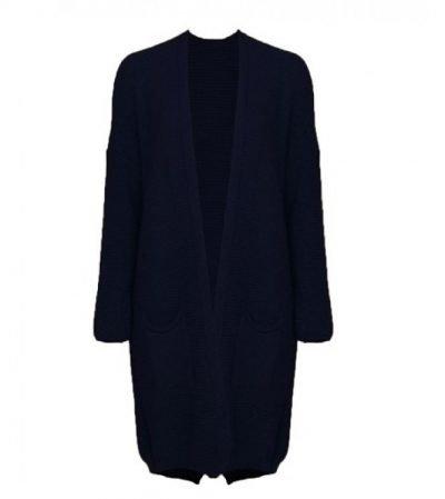 Vest Classy blauw blauwe lange dames vesten dikke willen open vesten zakken kleding winter online fashion kopen