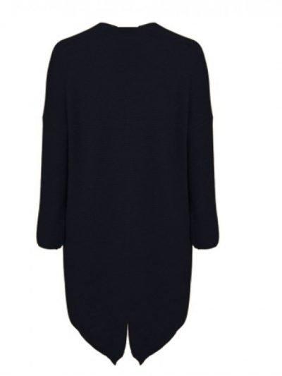Vest Classy zwart zwart lange dames vesten dikke willen open vesten zakken kleding winter online fashion kopen achter