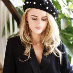 baret parels zwarte zwart barets mutsen dames musthave fashion items online