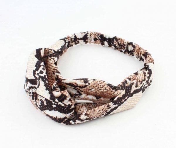haarband Snake Jaline-bruin bruine dames haarbanden slangenprint fashion headbands online bestellen kopen