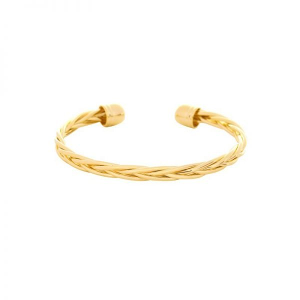 Armband Cool Braid goud gouden open dames armbanden Bracelets dunne gevlochten armbanden fashion musthaves online
