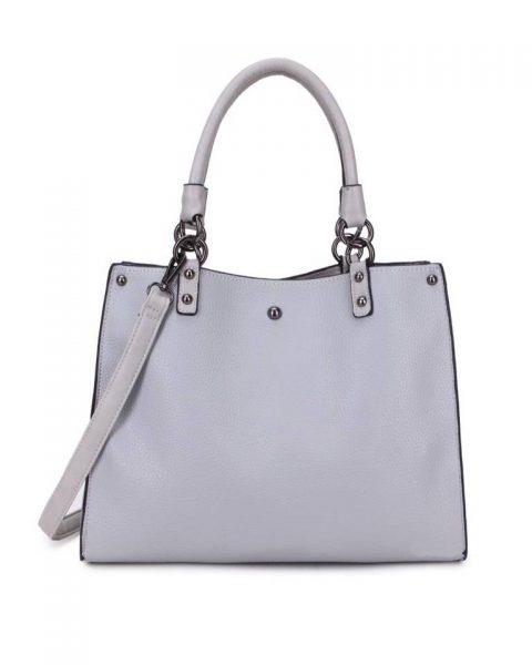 Handtas Classic grijs grijze off white musthave dames tassen werk tassen office bags itbags giuliano online bestellen goedkope schoudertas