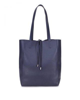 Leren-Shopper-Simple donker blauw blauwe-ruime-dames-shopper-zacht-leer-online-luxe-dames-tassen-italie-bestellen-557x600