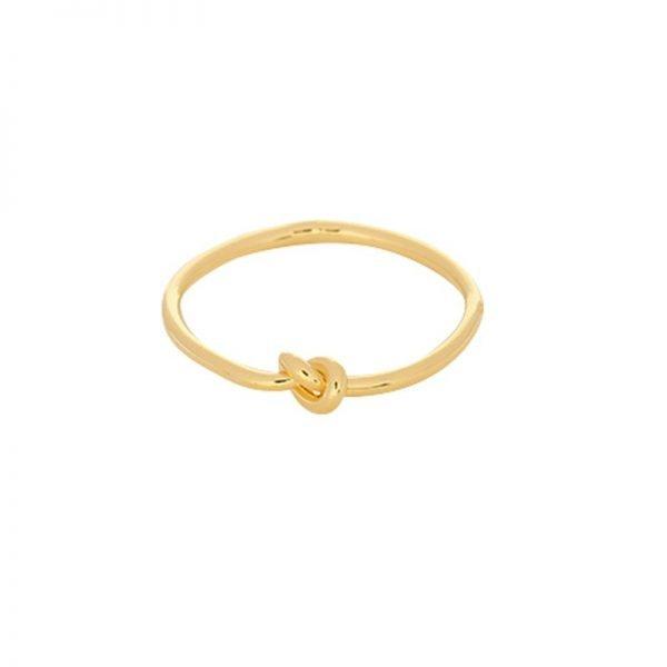 Ring One Knot goud gouden dames ringen met knoop maat 17 online sieraden fashion musthaves rings online