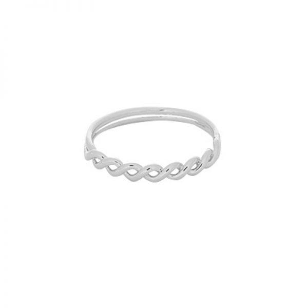 Ring Wavy Lines zilver zilveren dubbele gedraaide dames ringen maat 17 online sieraden fashion musthaves rings online