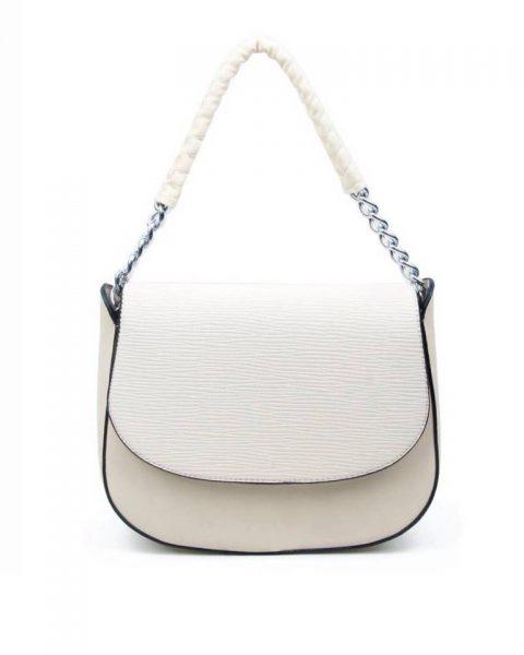 Tas-Maya- beige nude creme -dames-schoudertassen-korte-zilveren-hengsel-dames-tassen-it-bags-guiliano-online itbags kopen bestellen