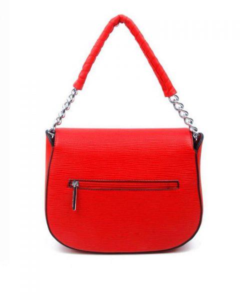 Tas-Maya-rood rode -dames-schoudertassen-korte-zilveren-hengsel-dames-tassen-it-bags-guiliano-online itbags kopen
