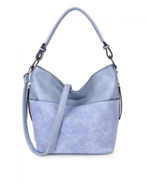 Tas Pattie blauw blauwe dames handtassen giulliano kunstleder stoere tassen vrouwen online kopen bestellen itbags