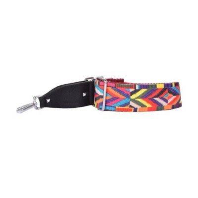Tassen Hengsel Multicolor gekleurde stoffen schouderbanden voor tassen met studs musthave accessoires online goedkoop