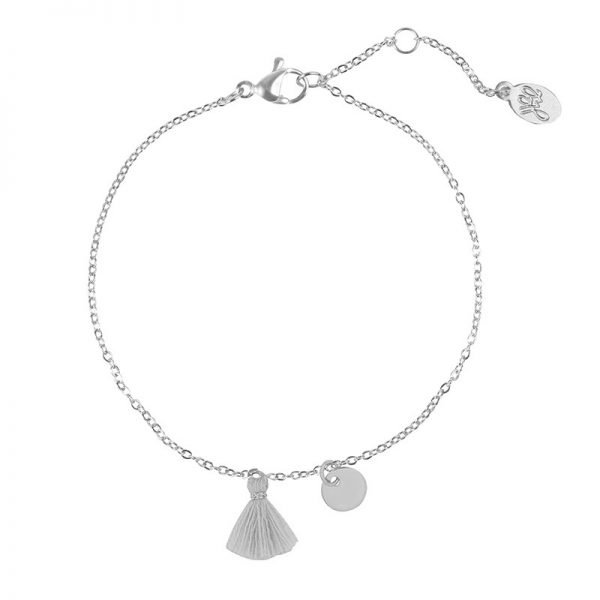 Armband Tassel Row zilver zilveren armbanden gekleurde neon roze kwastsje gouden bedel dunne boho dames armbanden sieraden bracelet pink tassel online