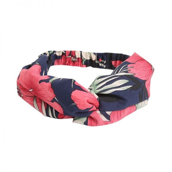 Haarband bloemen blauw blauwe haarbanden gekleurde bloemenprint roze haarbanden knoop musthave headband dames vrouwen online
