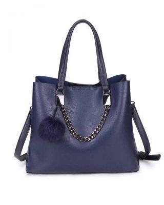 Handtas Lofti Chain blauw blauwe kunstleder dames tassen ruime tas handtassen goedkoop giuliano online kopen bestellen