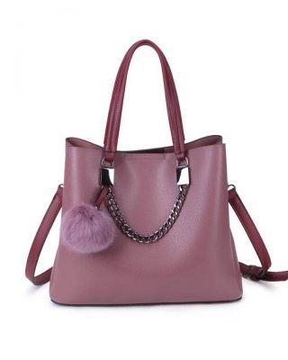 Handtas Lofti Chain paars aubergine kunstleder dames tassen ruime tas handtassen goedkoop giuliano online kopen bestellen
