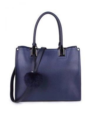 Handtas Lofti Classic blauw blauwe kunstleder schoudertassen dames tassen ruime tas handtassen goedkoop giuliano online kopen bestellen