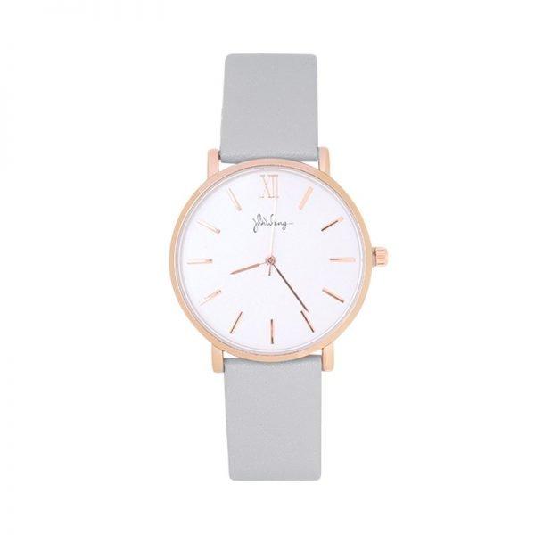 Horloge Time flies grijs grijze band rose kast musthave dames horloges fashion horloges rvs roestvrij staal online bestellen watches