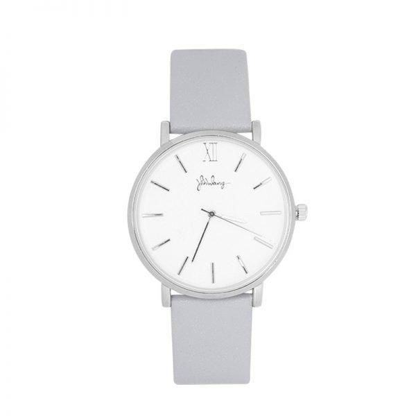 Horloge Time flies grijs grijze band zilveren kast musthave dames horloges fashion horloges rvs roestvrij staal online bestellen watches