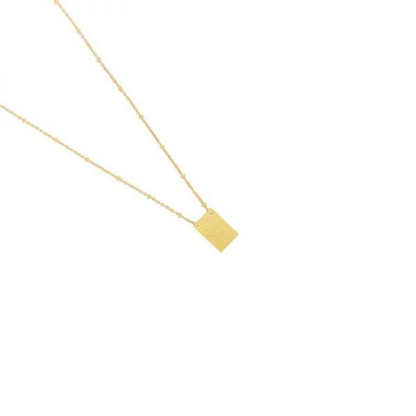Ketting Queen B goud gouden lange dames kettingen met bedel kant met tekst Queen Bee en bij musthave fashion necklage
