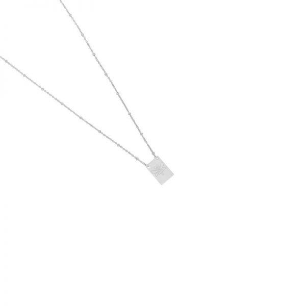 Ketting Queen B zilver zilveren lange dames kettingen met bedel kant met tekst Queen Bee en bij musthave fashion necklage
