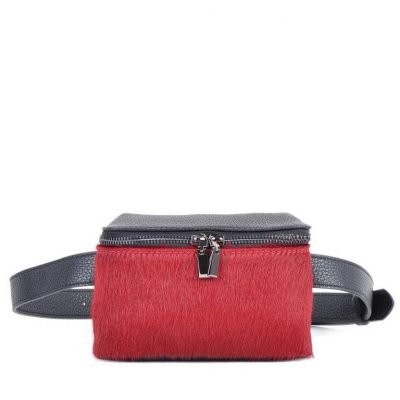 Leren-Heuptas-Dierenvacht-rood rode zwart zwarte-beltbag-belt-purse-riemtas-heuptasje-met-riem-fashion-festival-musthave-look-a-like-tassen-online-giuliano-leer-rits