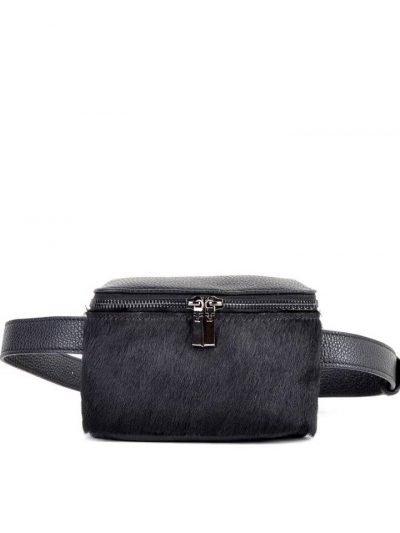 Leren-Heuptas-Dierenvacht- zwart zwarte-beltbag-belt-purse-riemtas-heuptasje-met-riem-fashion-festival-musthave-look-a-like-tassen-online-giuliano-leer-rits