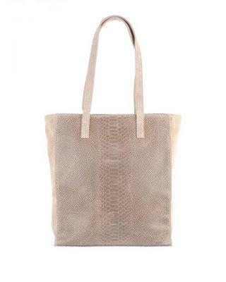 8e62fafc41c Leren Shopper-Suede Croco beige creme croco print kroko print-luxe-lederen-