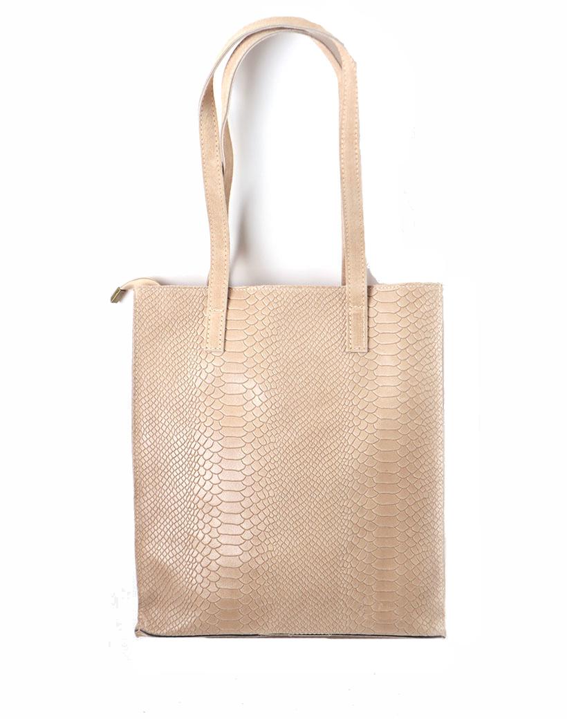 Leren Shopper-Suede Croco creme beige croco print kroko print-luxe-lederen-shopper grote lederen dames tassen -it-bags-online-bestellen-kopen giuliano