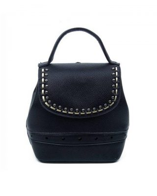 Rugtas Studs zwart zwarte kunstleder rugzak zilveren studs kleine handige rugtassen rugzakken backpack online