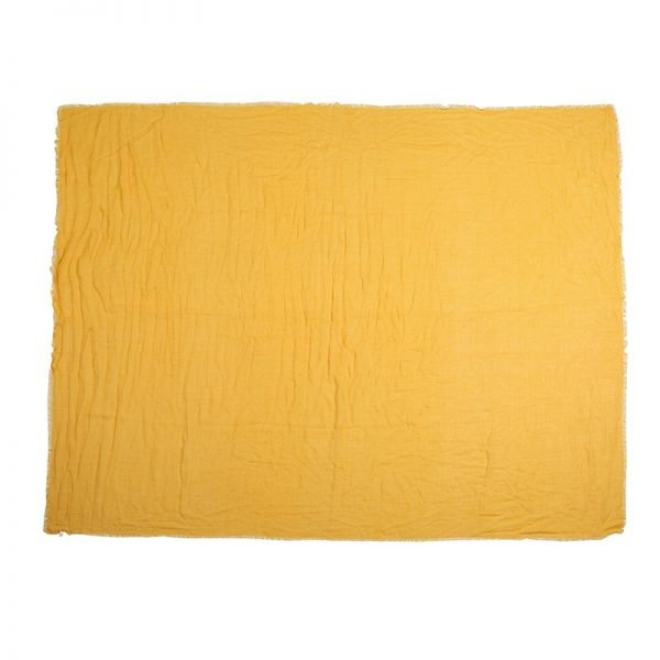 Sjaal Sweetheart geel gele lange dames sjaals omslagdoek katoen shawls yellow online fashion musthaves vierkante sjaal kopen