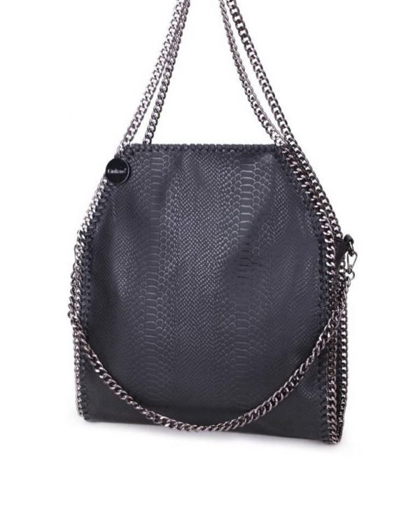 tas-Croco-Stella-Chains-zwart-zwarte -kroko-print-tas-kettingen-musthave-it-bag-look a like-tas-met-kettingen-online-kopen-goedkoop-cheap