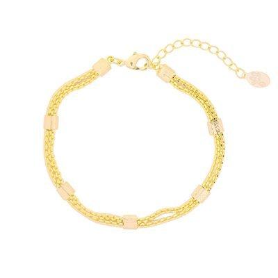 Armband Connect chain goud gouden dikke dames armbanden schakels musthave fashion bracelets online kopen