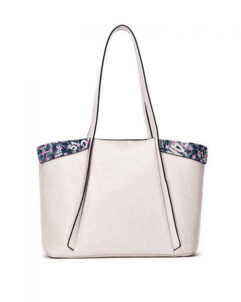 Bag in Bag Shopper Funky beige nude creme grote dames tassen extra binnentas print goedkope musthave itbags giuliano bestellen