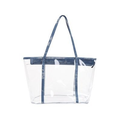 Bag in Bag Tas Clear Summer licht blauw blauwe rits doorschijnende tassen strandtassen clear beachbag musthave fashionbags