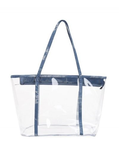 Bag in Bag Tas Clear Summer licht blauw blauwe rits doorschijnende tassen strandtassen clear beachbag musthave fashionbags