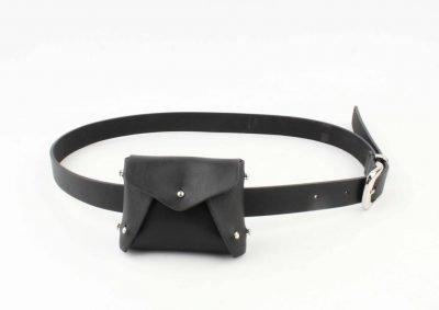 Heuptas Envelop zwart zwarte riemtas beltbag fannypack festival silver musthave it bags ladies vrouwen fashion