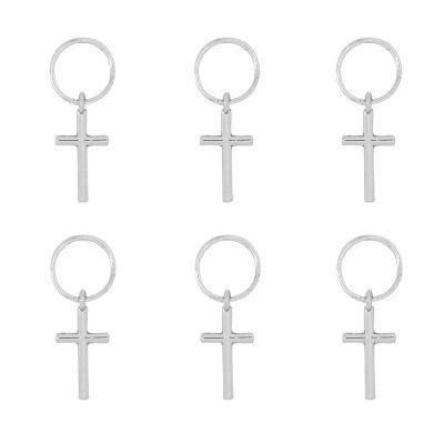 Haarringen Kruis zilver zilveren vlecht ringen setje haar accessoires haar pimpem festival hair musthave fashion haar hair braid rings cross