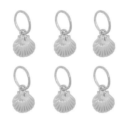 Haarringen Schelpen zilver zilveren vlecht ringen setje haar accessoires haar pimpem festival hair musthave fashion haar braid rings shells