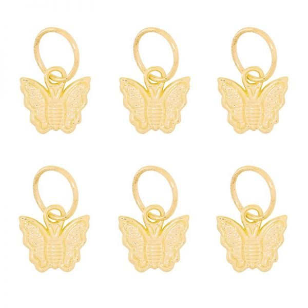 Haarringen Vlinder goud gouden vlecht ringen setje haar accessoires haar pimpem festival hair musthave fashion haar hair braid rings butterfly