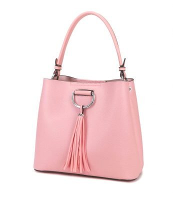 Handtas Miley Tassle roze pink tassen dames kunstleder giulliano tas kwastje kopen side