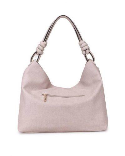 Handtas Spiral beige nude kunstleder tassen dames tas itbags look a like bags musthave dames tassen goedkope guiliano online achter