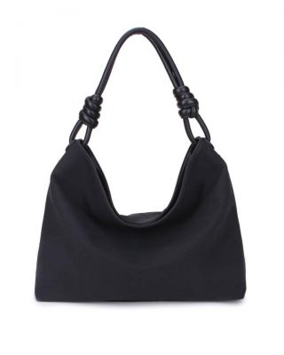 Handtas Spiral zwart zwarte kunstleder tassen dames tas itbags look a like bags musthave dames tassen goedkope guiliano online