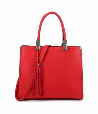 Handtas Yara Tassle rood rode dames handtassen schoudertassen kantoor giulliano tassen kopen