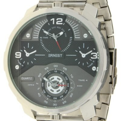Herenhorloge Rough Metal zilver zilveren stoere brede rvs mannen horloges mannenhorloges men watches online kopen