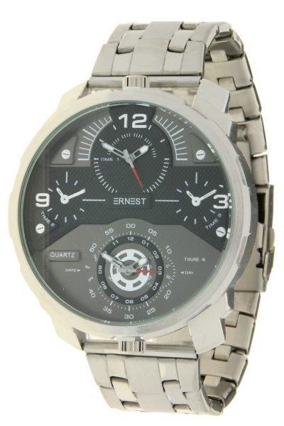 Herenhorloge Rough Metal zilver zilveren stoere brede rvs mannen horloges mannenhorloges men watches online kopen