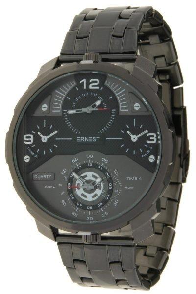 Herenhorloge Rough Metal zwart zwarte zilver zilveren stoere brede rvs mannen horloges mannenhorloges men watches online kopen