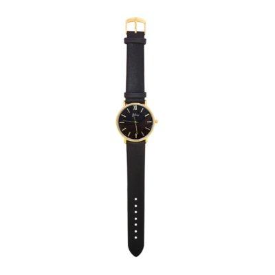 Horloge-Time-flies-zwart zwarte-band-gouden-kast-musthave-dames-horloges-fashion-horloges-rvs-roestvrij-staal-online-bestellen-watches detail