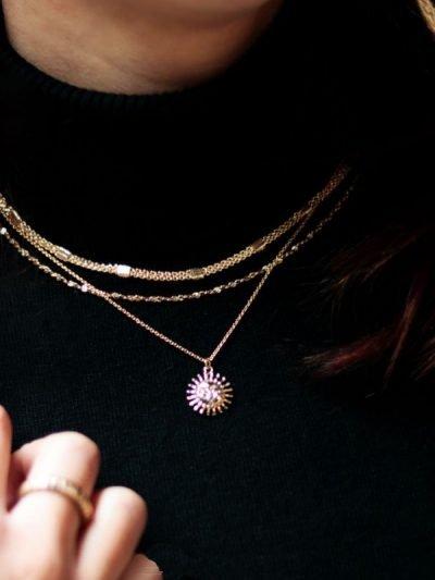 Korte dames kettingen fashion goud gouden chain schakels gold plated Necklace