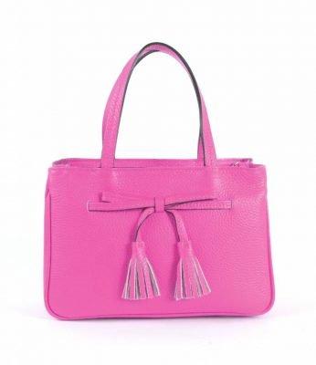 Lederen-Handtas-strik-roze pink-leren-dames-tassen-strik-detail-kwastjes-voor-musthave-look-a-like-it-bags-giuliano-online