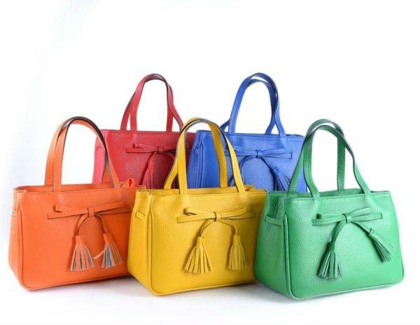 Lederen-Handtas-strik-zomer kleuren - kopie
